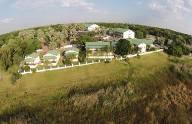 Aerial view of Maun Lodge