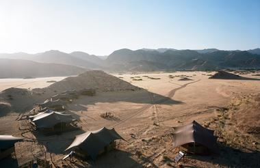 Hoanib Valley Camp - Arial View
