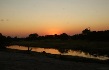 Savuti campsite at sunset